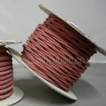 TWIST 2 Core Braided Fabric Cable Lighting Lamp Flex Vintage - ROSE PINK